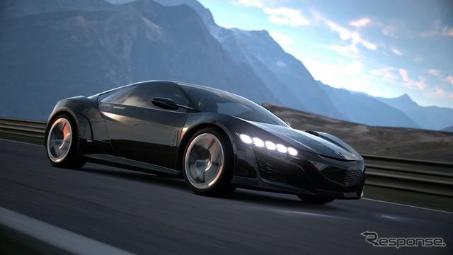 ホンダが公開した『グランツーリスモ6』内でのアキュラ(ホンダ)NSX コンセプト