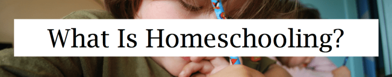What Is Homeschooling Header Narrow
