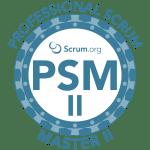 professional scrum master 2 advanced certification badge