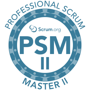 Scrum.org Professional Scrum Master II class and certification