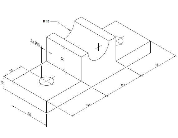 Como colocar cotas alinhadas em desenhos isométricos