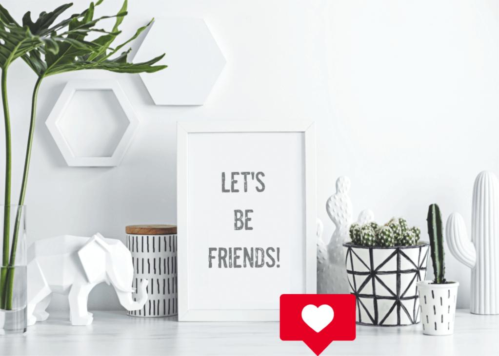 Let's be friends!