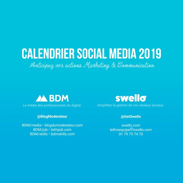 Calendrier marketing 2019  la liste de tous les vnements de lanne  BDM