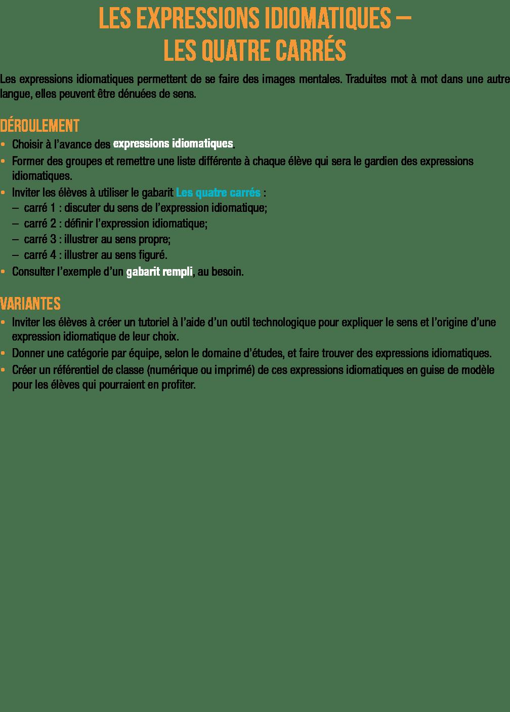 Expression Un De Ces Quatre : expression, quatre, Pdf-expressions_idiomatiques