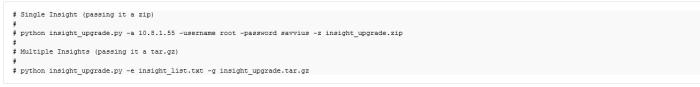 Script python pour automatiser la mise à jour des sondes Insight