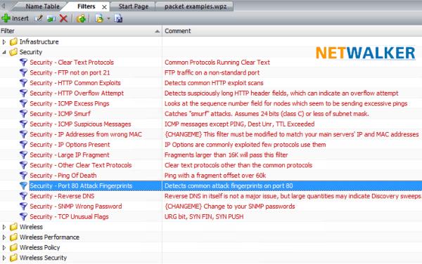 Les filtres de sécurité réseau d'Omnipeek vous permet un audit rapide