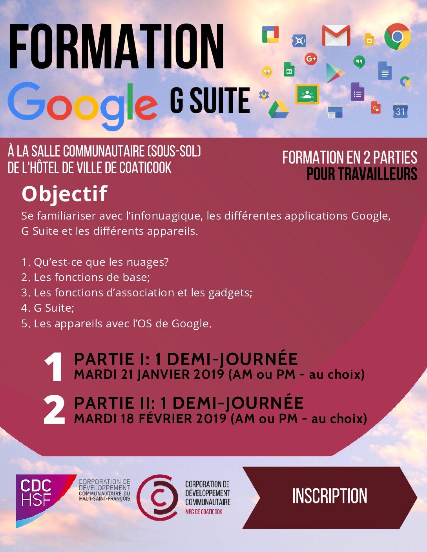 Qu'est Ce Que Google+ : qu'est, google+, Formation, Suite, Google, Répertoire, Sociocommunautaire, Région, Coaticook
