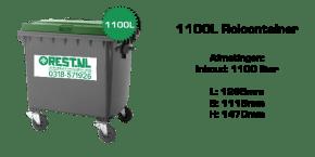 rolcontainer 1100 liter