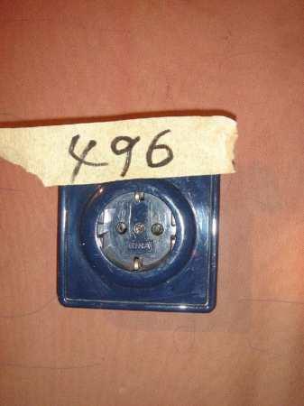 Kult-Steckdose in blau