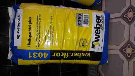 Weber floor 4031 Fußboden ausgleichmasse