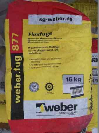 Weber Flexfuge 877, 15 kg
