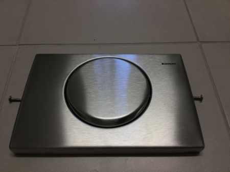 Toilette WC Taster von Geberit Edelstahl