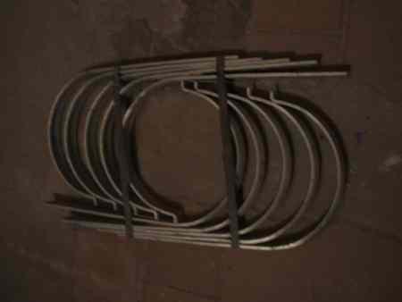 Zink Dachrinnenhaken gerade f. 400er Dachrinnen, 19cm Durchmesser