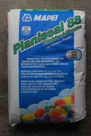 Dichtschlämme MAPEI Planiseal 88 – 1 Sack – 25 kg + Rest 5 kg