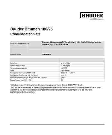 Bauder Bitumen 100/25
