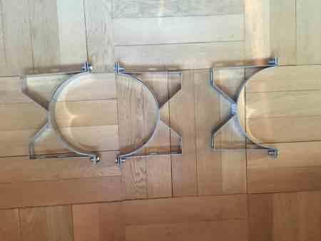 3 Wandbefestigungungen für einen Edelstahlschornstein