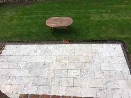 Natursteinplatten (Travertin-Bodenplatte)