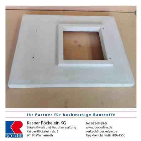 Kamin – Abdeckplatte – Außenmaß 985/580 mm mit Aussparung 315/315 mm