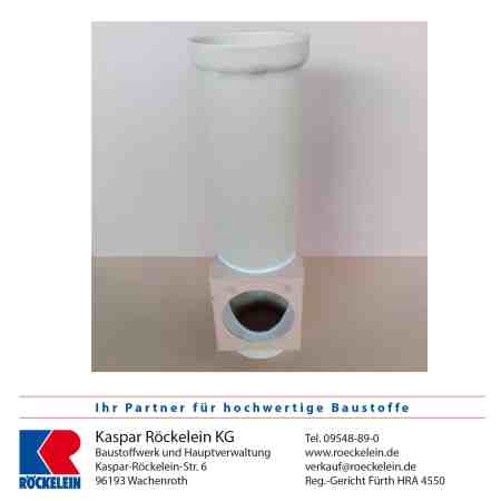 Kamin – Reinigungsanschluss – OSMOTEC isostat. unten, 180/180 mm 66 cm lang