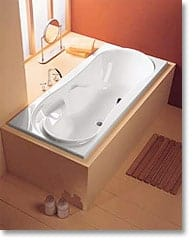 Badewanne Family 1800 x 800mm – weiß, mit Füßen