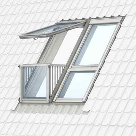 Velux Cabrio Dachfenster mit  Dachaustritt
