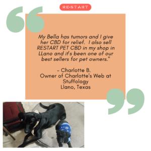 RESTART CBD Pet Testimonials and KVUE News Story