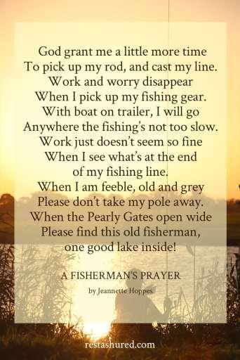 A Fisherman's Prayer by Jeanette Hoppes