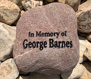Example memorial rock
