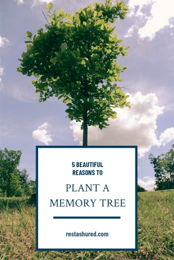Pinterest graphic of best memorial tree planting service