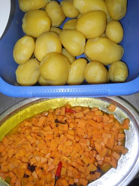 Zweimal Kartoffeln: Für Salat und süße Kartoffeln
