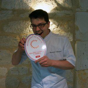 Bernard Gisquet croque le label du College culiniare de France
