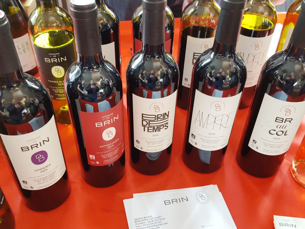 Les vins du Domaine de Brin servis au restaurant de Bernard Gisquet entre Albi, Gaillac et Cordes
