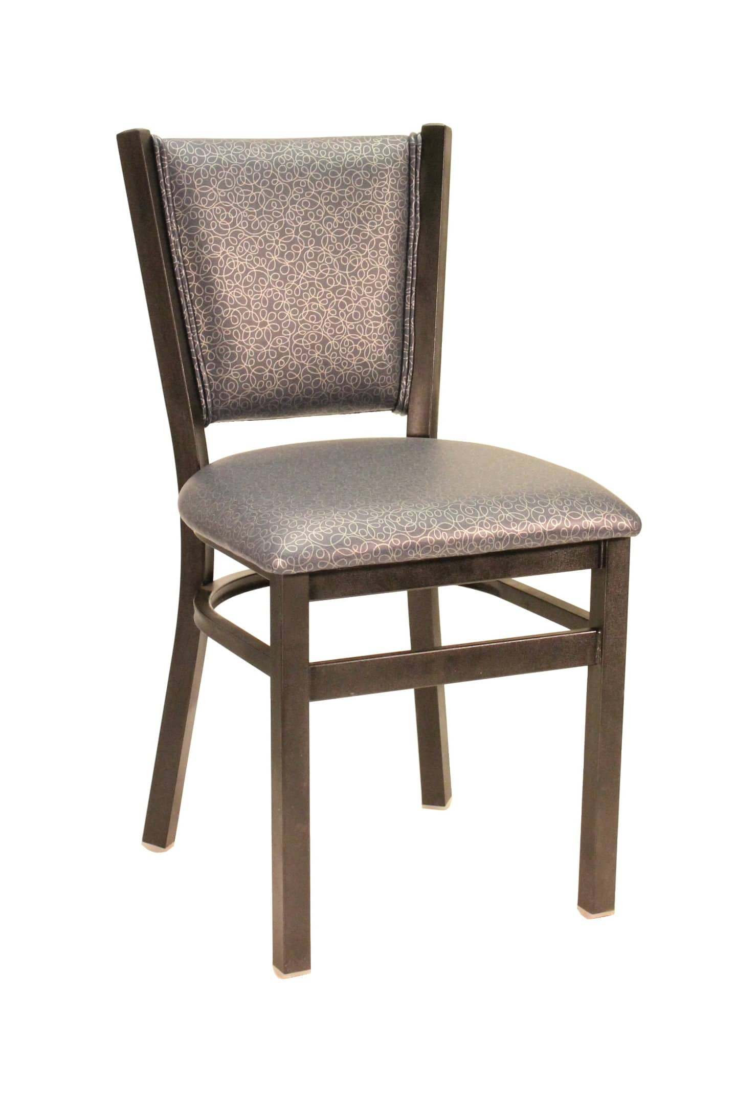 Metal Chairs Heavy Duty Padded Back Chair Model 748