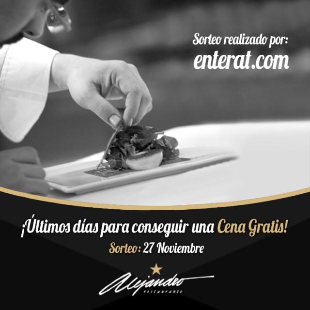 Cena gratis Restaurante Alejandro