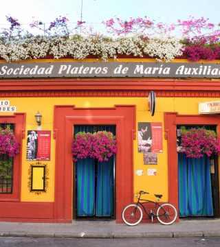 Postal fachada. Restaurantes en Córdoba. Sociedad Plateros María Auxiliadora