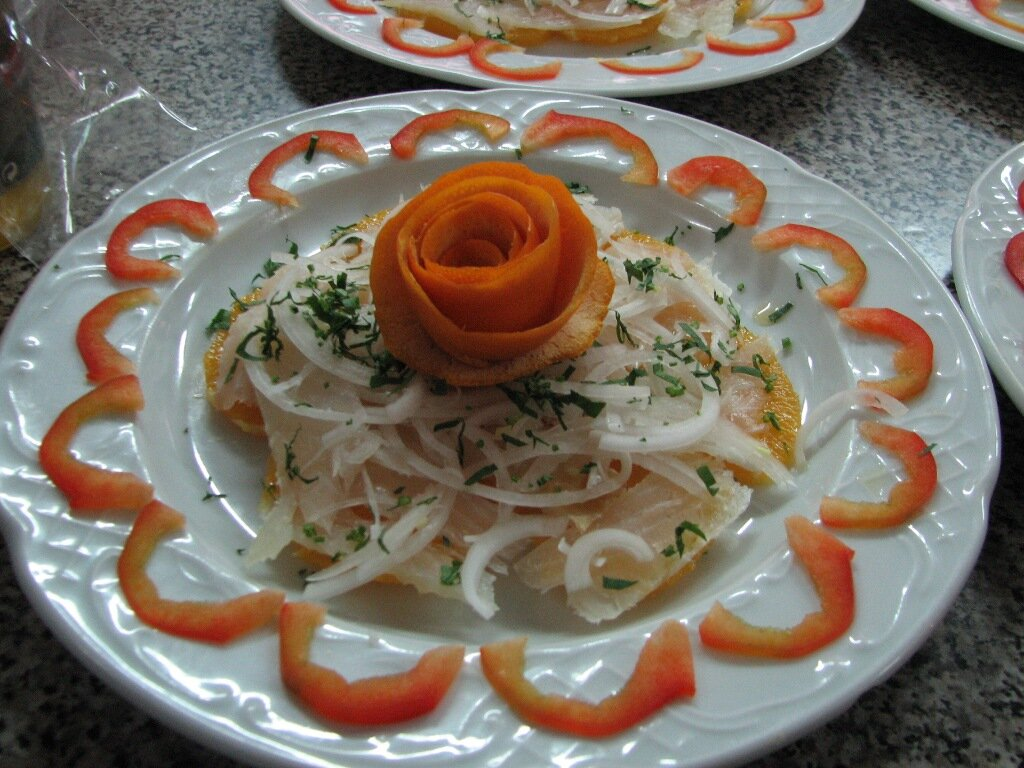 Bacalao a la naranja. Restaurantes en Córdoba Sociedad Plateros María Auxiliadora