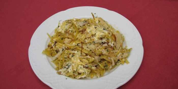 Revuelto de bacalao dorado. Restaurantes de Córdoba Sociedad Plateros María Auxiliadora