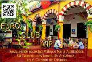 Tarjeta Euro Club Vips. Restaurantes en Córdoba Sociedad Plateros María Auxiliadora