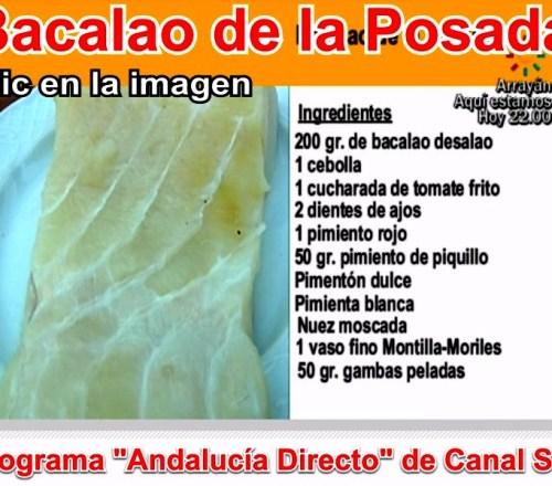Bacalao de la Posada del Restaurante en Córdoba Sociedad Plateros María Auxiliadora