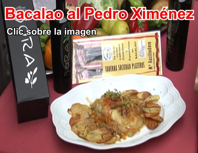 Bacalao al Pedro Ximenez en el Restaurante en Cordoba Sociedad Plateros Maria Auxiliadora