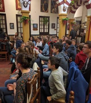 Curso de paella para estudiantes franceses en el Restaurante Sociedad Plateros Maria 18
