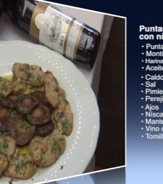 Puntas de solomillo con niscalos sin gluten en el Restaurante Sociedad Plateros Maria Auxiliadora