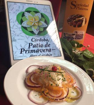 Bacalao a la naranja en el Restaurante Sociedad Plateros María Auxilidora de Cordoba 02