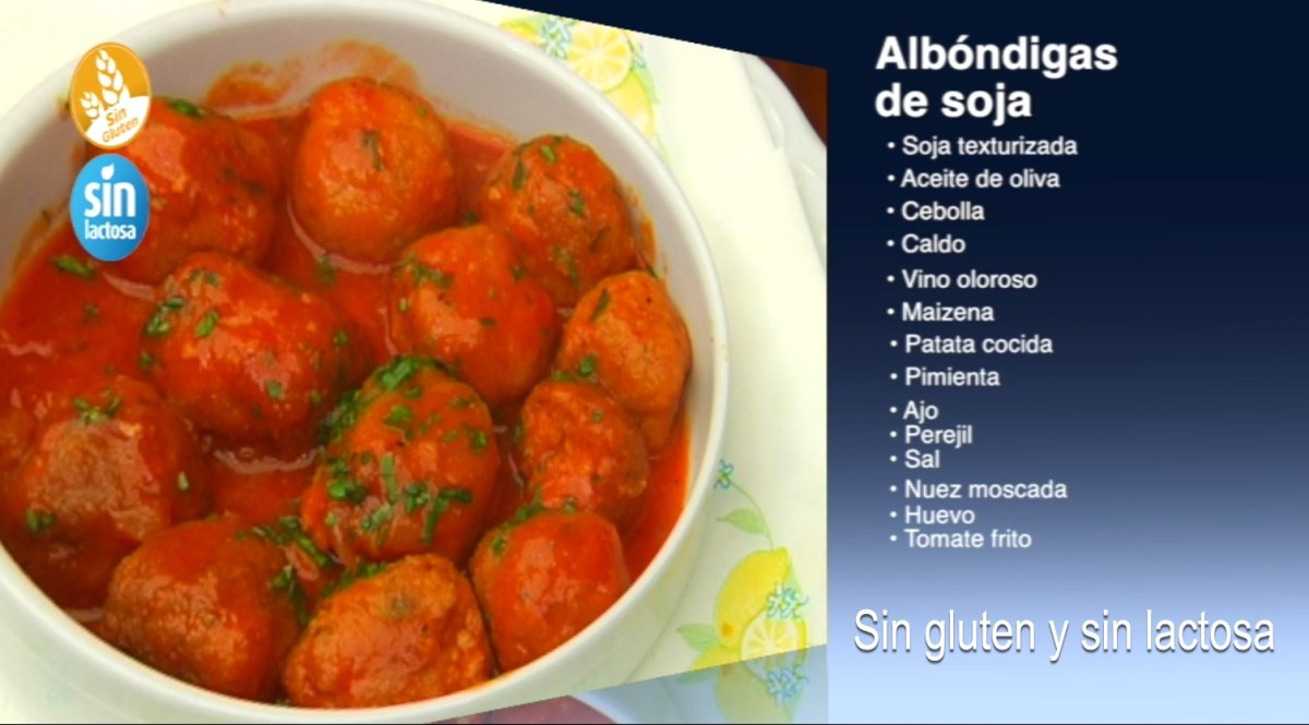 Albóndigas de soja sin gluten y sin lactosa