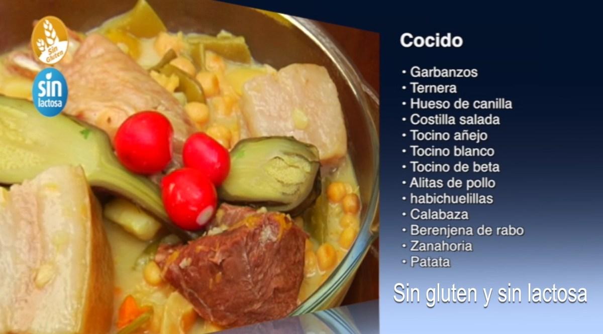 Cocido de garbanzos sin gluten y sin lactosa