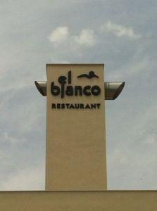Cartel El Blanco Restaurante