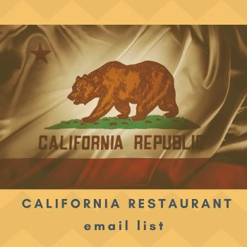 Buy Restaurant Email List for California Restaurants