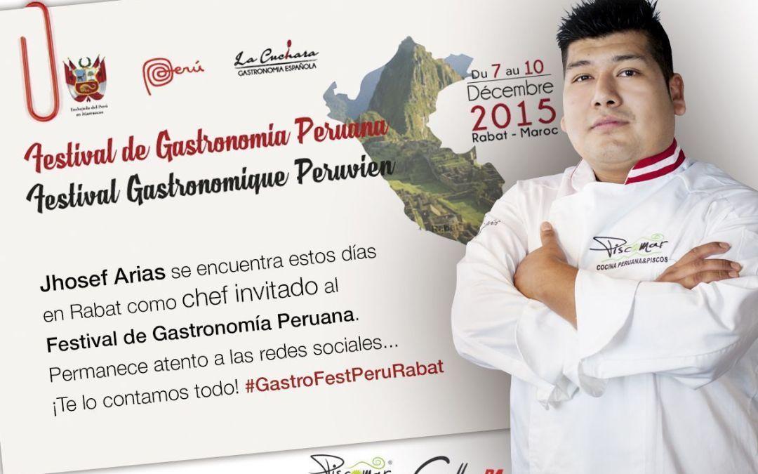 Jhosef Arias Chef Invitado al Festival Gastronomía Peruana en Rabat