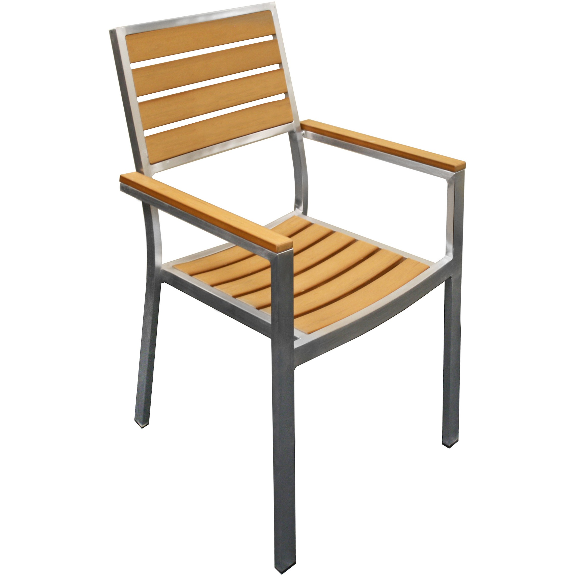 Plastic Outdoor Chair Natural Plastic Teak Metal Patio Chair
