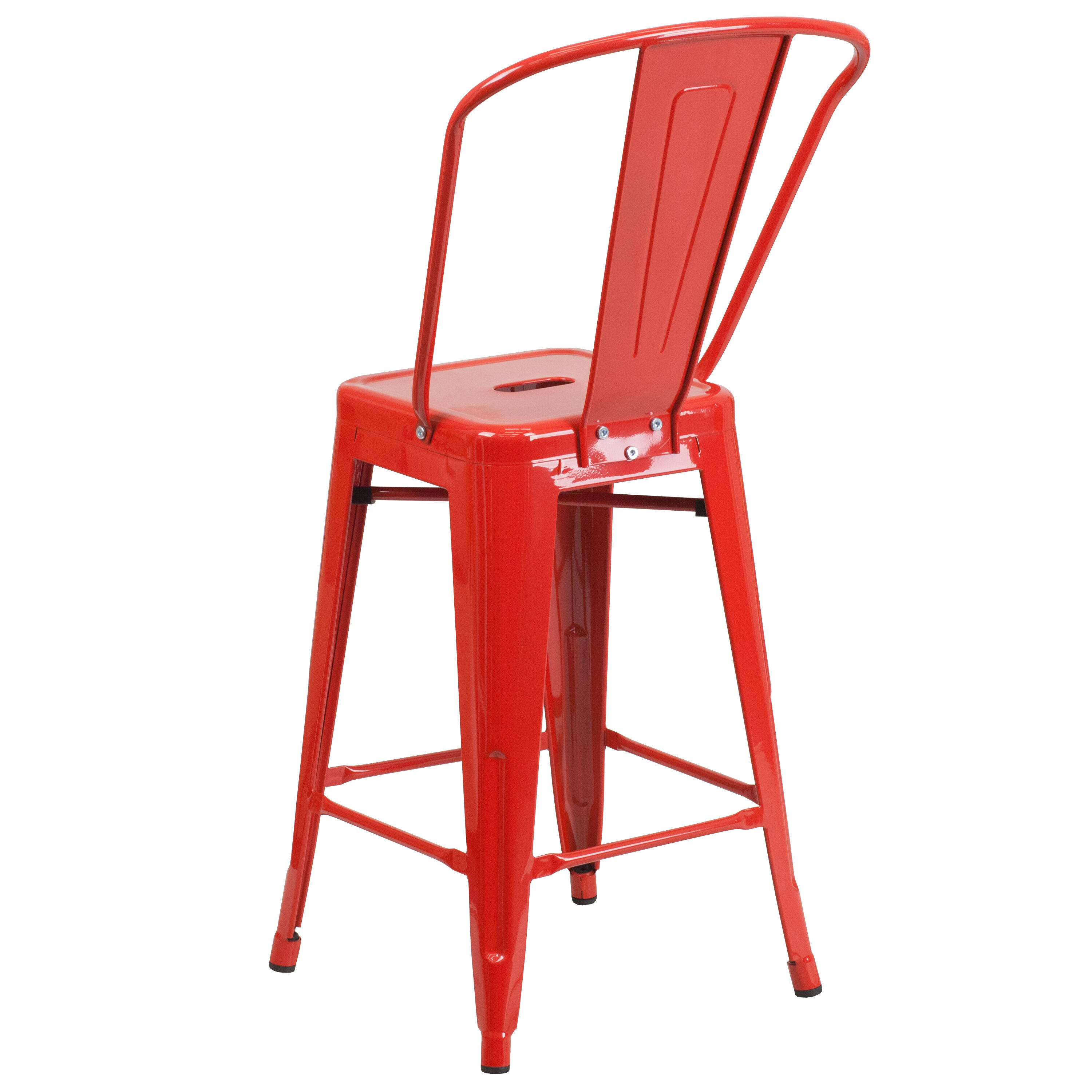Red Counter Height Chairs 24 Quot Red Metal Outdoor Stool Ch 31320 24gb Red Gg